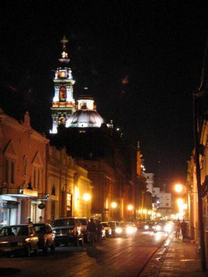 Foto tomada desde calle Caseros del Campanario de la iglesia San Francisco, Salta.