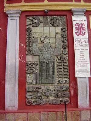 Foto del Mural de la iglesia San Francisco, Salta.