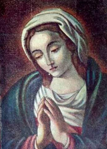 Imagen del lienzo de la Virgen de Las Lágrimas.