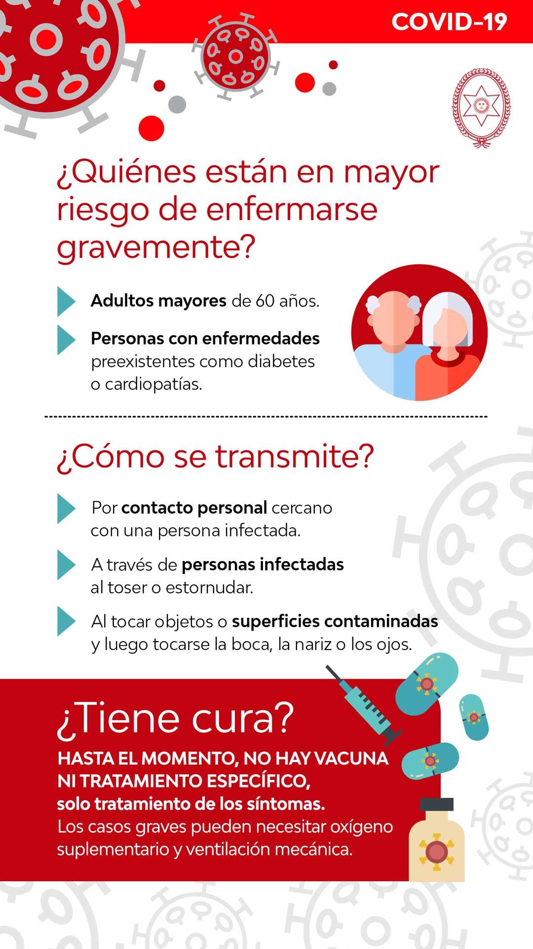 Foto de afiche riesgo, transmite y cura del COVID-19 en Salta.