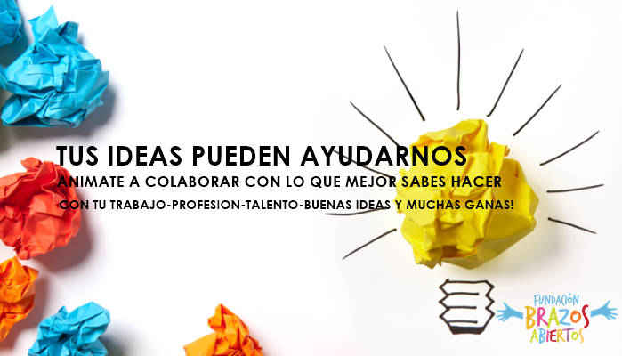 Imagen banner Ideas Fundación Brazos Abiertos, Salta.